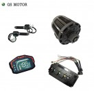 QS 138 3000W 72V 100KPH belt design mid drive motor power train kits with motor controller