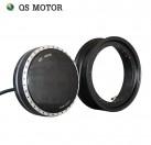 Detachable QSMOTOR 13inch 1500W - 2000W 8000W 48V - 144V 273 Electric Single Shaft Motor BLDC Hub Electric Motor
