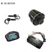 QS 138 3000W 72V 100KPH belt design mid drive motor power train kits with motor controller
