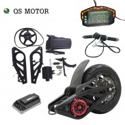 QSMOTOR 120 2000W Mid Drive Motor Assembly Kits with controller and throttle and speedometer