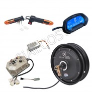 SiAECOSYS QSMOTOR 10x2.15inch 3000W 60V 80kph Hub Motor with QSKLS7230H controller and kits for Electric Scooter