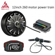 12*3.5inch 1500W 48V 55kph BLDC E-Scooter Hub Motor Kits Power Train with EM50SP controller