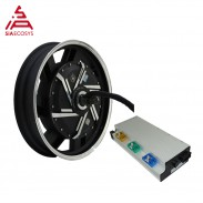 SiAECOSYS QSMOTOR 17X3.5inch 8000W V3 72V 120kph hub Motor with APT72600 controller power train kits for electric motorcycle