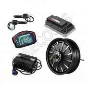 SiAECOSYS QSMOTOR 12inch 3000W 48V 74kph Hub Motor with EM100SP controller and kits for electric scooter