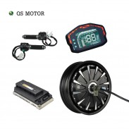 SiAECOSYS QSMOTOR 12inch 3000W 72V 80kph Hub Motor with EM150SP controller and kits for Scooter
