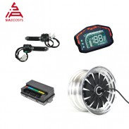 SiAECOSYS QSMOTOR 12x7.5inch 1500W 48V 55kph Hub Motor with EM50SP Controller and Kits for Harley streetcar