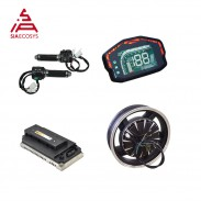 QSMOTOR 16inch 3000W 72V 80kph Hub Motor with EM150SP Controller and kits for E-Motorcycle
