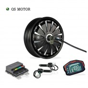 SiAECOSYS QSMOTOR 12inch 1000W 72V 45kph Hub Motor with EM30SP controller and kits for Scooter