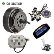 QS MOTOR Dual 4000W 10kw peak 273 40H V3 brushless electric car hub motor hybrid conversion kits with Kelly 7250H