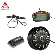 SiAECOSYS QSMOTOR 12x3.5inch 3000W 72V 70kph Hub Motor With EM72100SP Controller and Kits for Electric Scooter