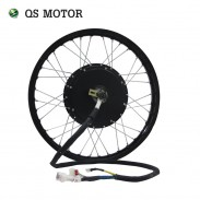 QS Motor Bicycle Spoke motor 3000W 205 (50H) V3 Type Hub Motor with moped wheel rim