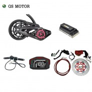 QS 3000W 138 72V 100KPH Mid drive motor 12inch assembly kits with EM150SP Controller