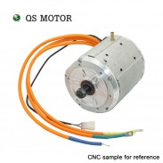 QSMOTOR Liquid Cooled 138 4000W 90H 7500W Max continuous 72V 110KPH Mid drive Motor conversion with Better temperature resistance fit EM200sp Controller