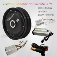 QS Motor 10*2.15inch 205 3000W Single Shaft In Wheel Hub Motor Electric Tricycle Conversion Kit
