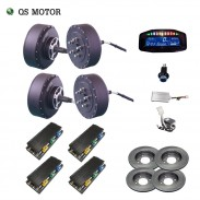 QS Motor 273 8000W 4wd 96V 120kph BLDC brushless electric car hub motor conversion kits with APT96600 motor controller