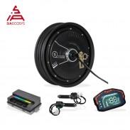 SiAECOSYS QSMOTOR 10x2.15inch 2000W 48V 35kph Hub Motor with EM50SP controller and kits for low speed high torque Electric Scooter