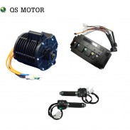 QS 138 3000W 72V 100KPH new appearance belt mid drive motor with motor controller and Z6 throttle