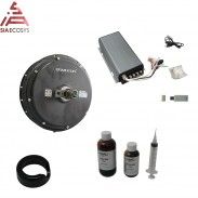 QS Motor 205 3kW spoke hub motor with Ferrofluid and SVMC72150 controller