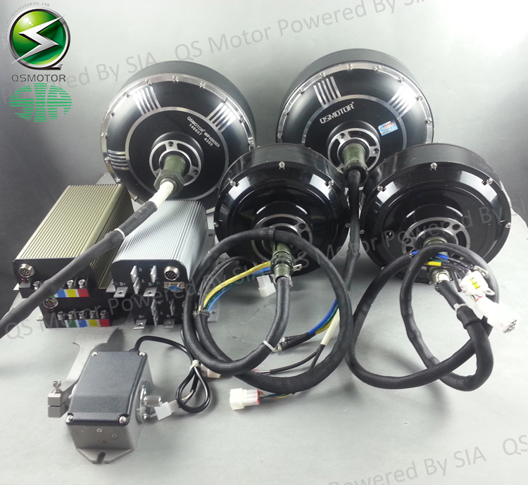 96V 125KPH Electric Car Conversion Kits, 2X8000W Hub Motor